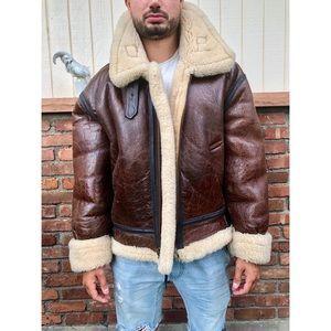 Other - Vintage Men's Sheep Skin Bomber Jacket